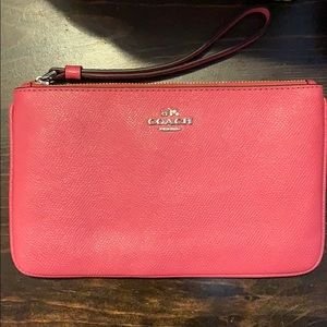 Pink Large Coach Wristlet